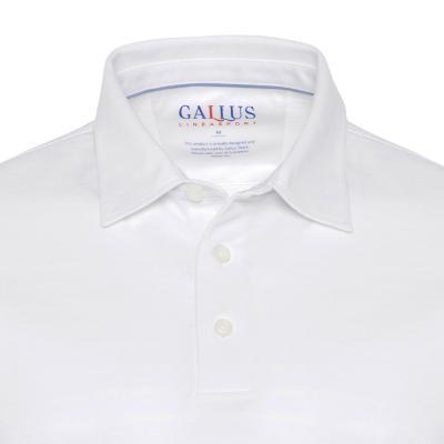 Gallus - Gallus Beyaz Piquet Filodi Scozia Gömlek Yaka Polo T-Shirt (1)