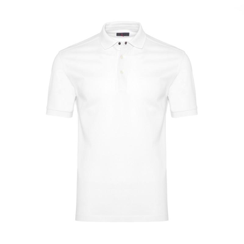 Gallus Beyaz Piquet Filo Di Scozia Polo Yaka T-Shirt
