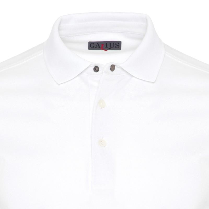 Gallus - Gallus Beyaz Piquet Filo Di Scozia Polo Yaka T-Shirt (1)