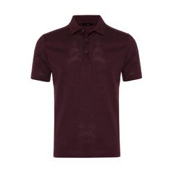Gallus - Gallus Bordo Melanj Filo Di Scozia Polo Yaka T-Shirt