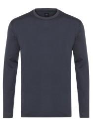 Gallus - Gallus Gri Filo Di Scozia Örme Bisiklet Yaka Tailor Fit Uzun Kollu T-Shirt