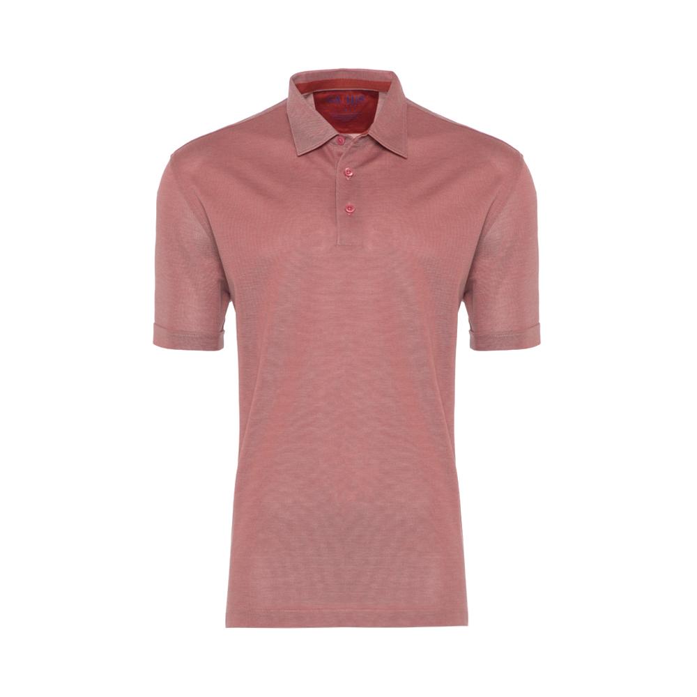 Gallus Gül Kurusu Piquet Filodi Scozia Gömlek Yaka Polo T-Shirt
