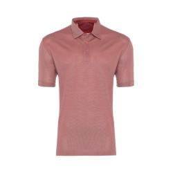 Gallus - Gallus Gül Kurusu Piquet Filodi Scozia Gömlek Yaka Polo T-Shirt