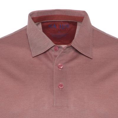 Gallus - Gallus Gül Kurusu Piquet Filodi Scozia Gömlek Yaka Polo T-Shirt (1)