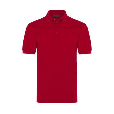 Gallus - Gallus Red Piquet Filo Di Scozia Polo Collar T-Shirt