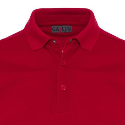 Gallus - Gallus Red Piquet Filo Di Scozia Polo Collar T-Shirt (1)