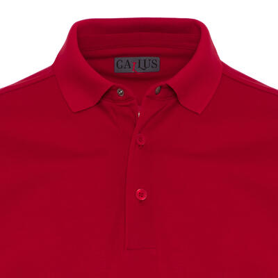 Gallus - Gallus Kırmızı Piquet Filo Di Scozia Polo Yaka T-Shirt (1)