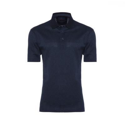 Gallus - Gallus Lacivert Dokulu Filodi Scozia Polo T-Shirt