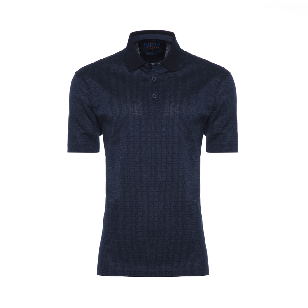 Gallus Lacivert Dokulu Filodi Scozia Polo T-Shirt