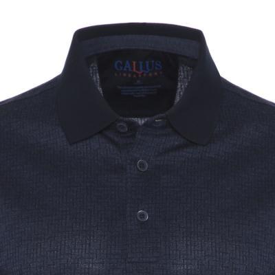 Gallus - Gallus Lacivert Dokulu Filodi Scozia Polo T-Shirt (1)
