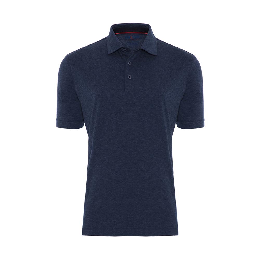 Gallus Lacivert Filafil Filo Di Scozia Gömlek Yaka T-Shirt