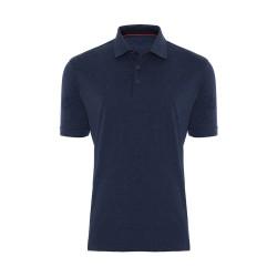 Gallus - Gallus Lacivert Filafil Filo Di Scozia Gömlek Yaka T-Shirt