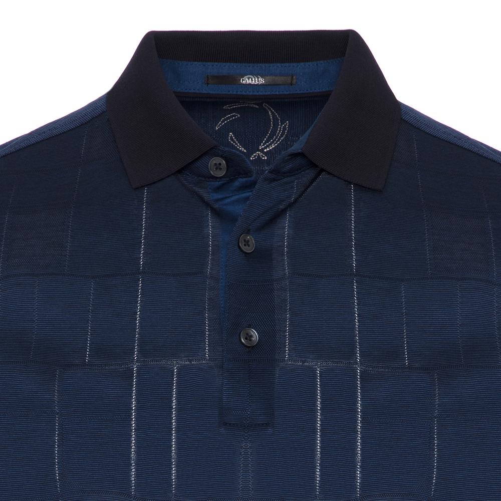 Gallus Lacivert Filafil Filo Di Scozia Polo Yaka Tailor Fit T-Shirt