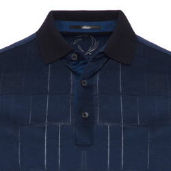 Gallus - Gallus Lacivert Filafil Filo Di Scozia Polo Yaka T-Shirt (1)