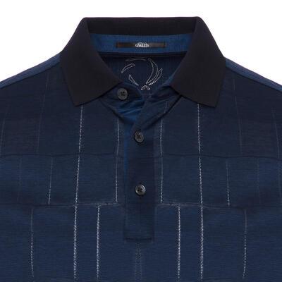 Gallus - Gallus Navy Filafil Filo Di Scozia Polo Collar T-Shirt (1)