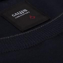 Gallus - Gallus Lacivert Filo Di Scozia Örme Bisiklet Yaka Tailor Fit Uzun Kollu T-Shirt (1)