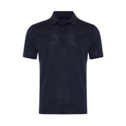 Gallus Lacivert Melanj Filo Di Scozia Polo Yaka T-Shirt - Thumbnail
