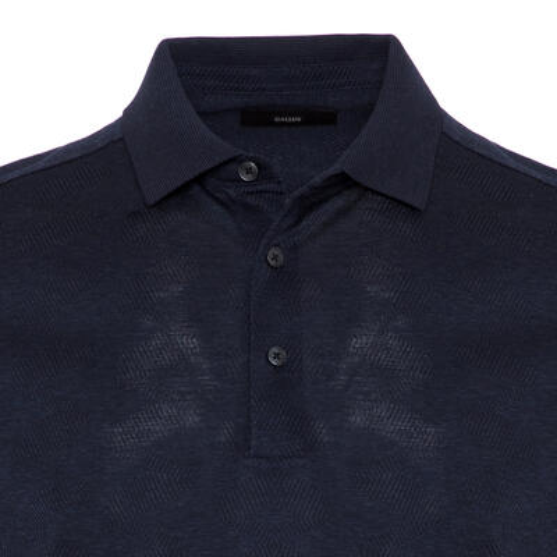 Gallus - Gallus Lacivert Melanj Filo Di Scozia Polo Yaka T-Shirt (1)