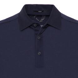 Gallus - Gallus Lacivert Merserize Filo Di Scozia Polo Gömlek Yaka T-Shirt (1)