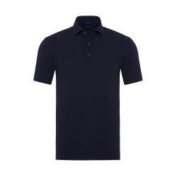Gallus - Gallus Lacivert Piquet Filo Di Scozia Polo Yaka Tailor Fit T-Shirt