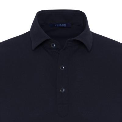 Gallus - Gallus Lacivert Piquet Filo Di Scozia Polo Yaka Tailor Fit T-Shirt (1)
