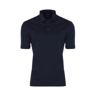 Gallus - Gallus Lacivert Piquet Filodi Scozia Gömlek Yaka Polo T-Shirt