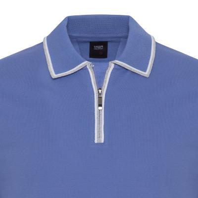 Gallus - Gallus Lila Piquet Filo Di Scozia Polo Yaka Fermuarlı Tailor Fit T-Shirt (1)