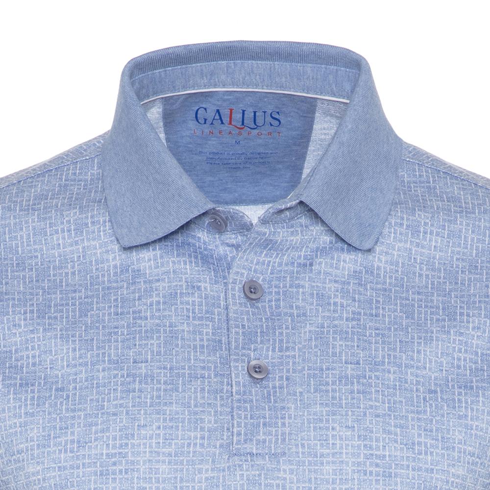 Gallus Mavi Dokulu Filodi Scozia Polo T-Shirt