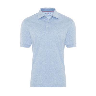 Gallus Mavi Filafil Filo Di Scozia Gömlek Yaka T-Shirt