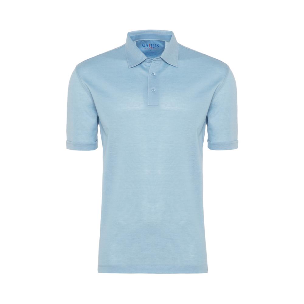 Gallus Mavi Piquet Filodi Scozia Gömlek Yaka Polo T-Shirt