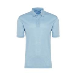 Gallus Mavi Piquet Filodi Scozia Gömlek Yaka Polo T-Shirt - Thumbnail