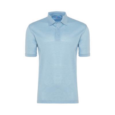 Gallus - Gallus Mavi Piquet Filodi Scozia Gömlek Yaka Polo T-Shirt
