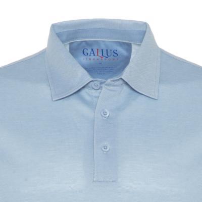 Gallus - Gallus Mavi Piquet Filodi Scozia Gömlek Yaka Polo T-Shirt (1)