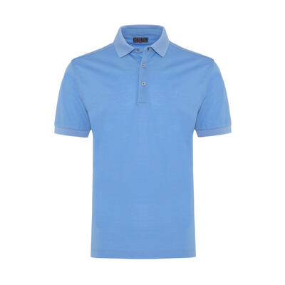 Gallus - Gallus Blue Piquet Filo Di Scozia Polo Collar T-Shirt