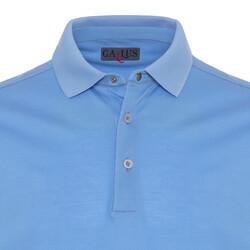 Gallus - Gallus Mavi Piquet Filo Di Scozia Polo Yaka T-Shirt (1)