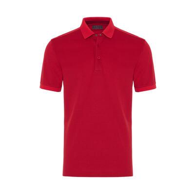 Gallus - Gallus Coral Piquet Filo Di Scozia Polo Collar T-Shirt