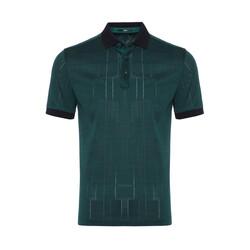 Gallus - Gallus Ördek Başı Yeşili Filo Di Scozia Polo Yaka T-Shirt