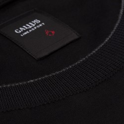 Gallus - Gallus Siyah Filo Di Scozia Örme Bisiklet Yaka Tailor Fit Uzun Kollu T-Shirt (1)