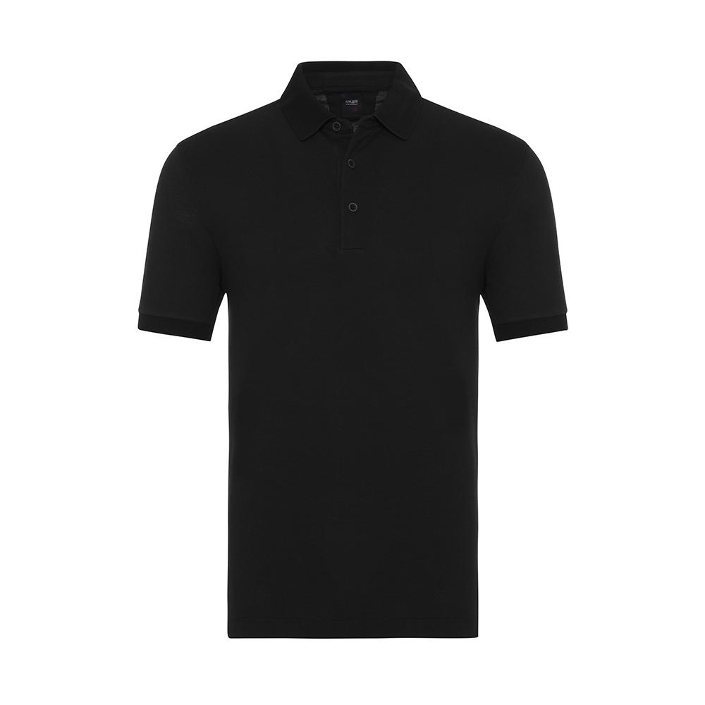 Gallus - Gallus Siyah Piquet Filo Di Scozia Polo Yaka Tailor Fit T-Shirt