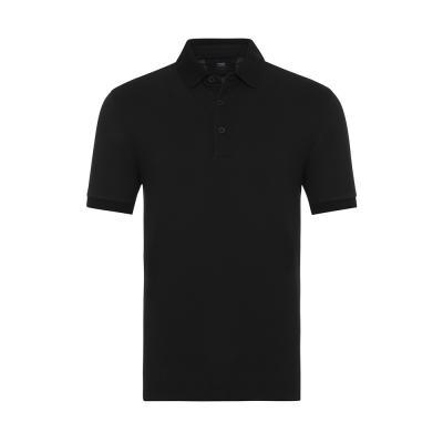 Gallus Siyah Piquet Filo Di Scozia Polo Yaka Tailor Fit T-Shirt