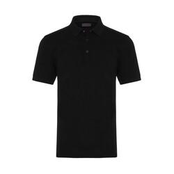 Gallus - Gallus Siyah Piquet Filo Di Scozia Polo Yaka T-Shirt