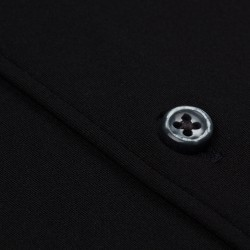 Germirli 3D Streç Siyah Slim Fit Active Gömlek - Thumbnail