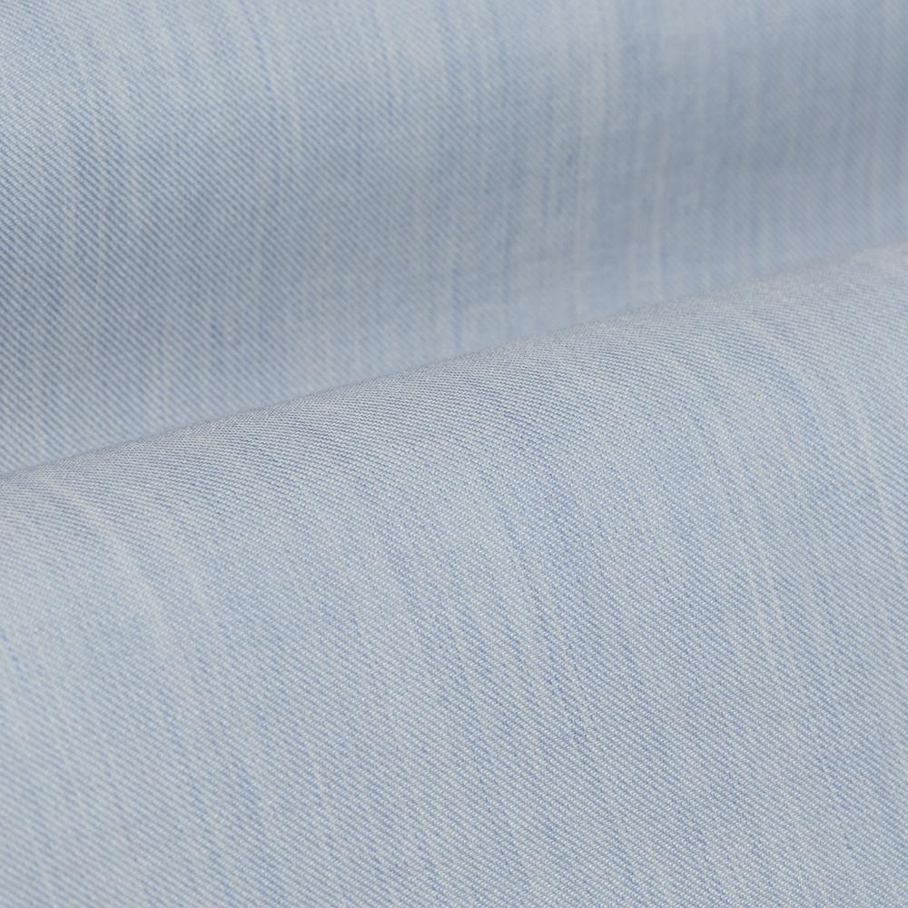 Germirli Açık Mavi Filafil Doku Düğmeli Yaka Tailor Fit Gömlek