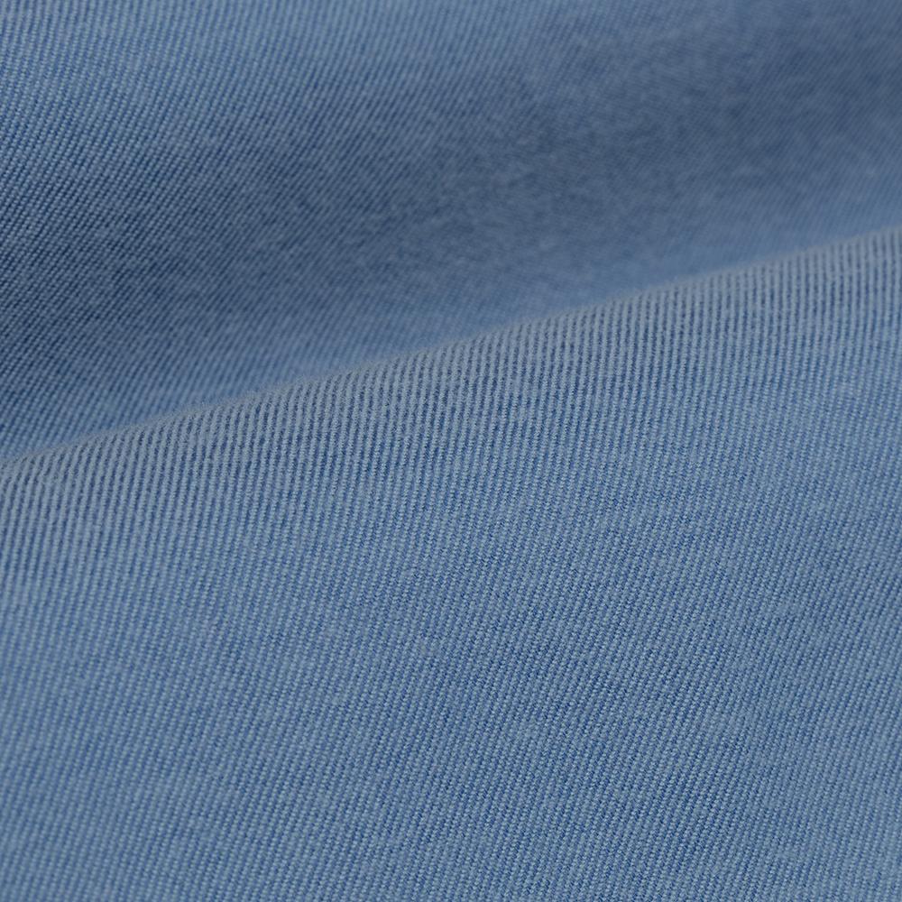 Germirli Açık Mavi Flanel Düğmeli Yaka Tailor Fit Gömlek