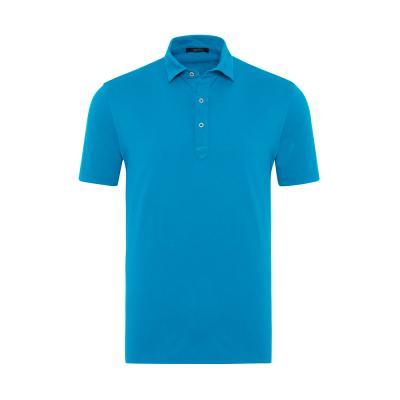 Germirli - Germirli Açık Mavi Gömlek Yaka Polo Tailor Fit T-Shirt