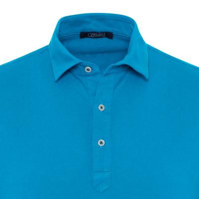 Germirli - Germirli Açık Mavi Gömlek Yaka Polo Tailor Fit T-Shirt (1)