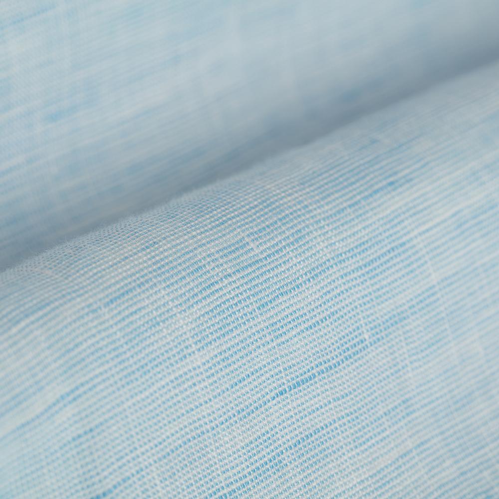 Germirli Açık Mavi Keten Düğmeli Yaka Tailor Fit Gömlek