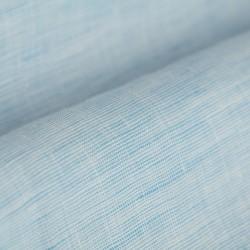 Germirli Açık Mavi Keten Düğmeli Yaka Tailor Fit Gömlek - Thumbnail