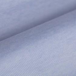 Germirli Açık Mavi Klasik Yaka Örme Kısa Kollu Slim Fit Gömlek - Thumbnail
