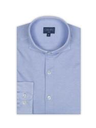 Germirli - Germirli Açık Mavi Klasik Yaka Piquet Örme Slim Fit Gömlek (1)